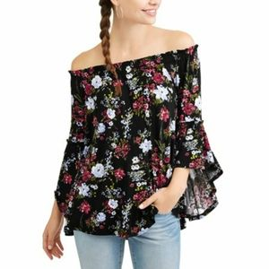 Time and True Floral off the Shoulder Top